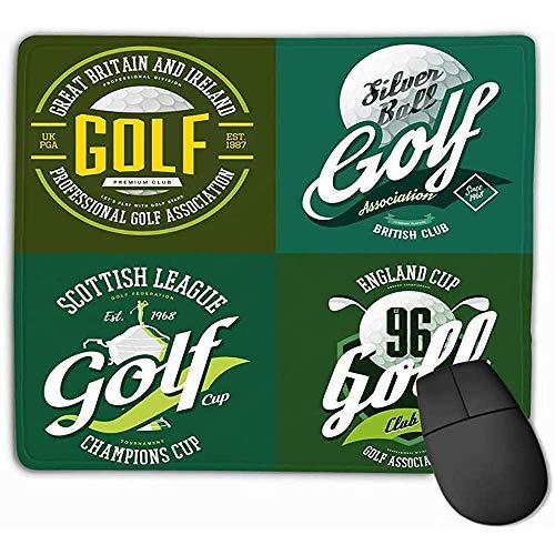 FJXXM Smooth Extra muismat, muismat golf trofee cup, mok, bal, druk, champions, sportkleding, design doek, logo, golfer, verband, rechthoekig, rubber, 25 x 30 cm