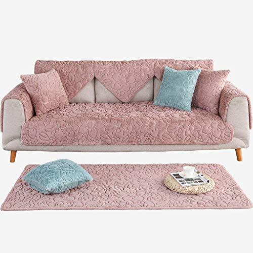 MO&SU Verdikte pluche sofahoes, antislip voor woonkamer sofahoes voor lederen sofa hoekbank beschikbaar vloermat