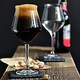 Krosno Bier-Tulpen Bier-Gläser | Probierglas | Set von 6 | 420 ML | Avant-Garde Kollektion | Perfekt für Zuhause, Restaurants und Partys | Spülmaschinenfest - 6