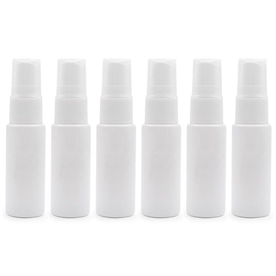 学校の先生前提プラス6 PCS透明プラスチックスプレーボトル トラベル クリーニング エッセンシャルオイル うがい薬 香水(10ml 20ml)用ポータブルアトマイザー BPAフリー - ホワイト - 10 ml
