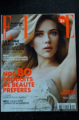 ELLE 3341 8 JANVIER 2010 COVER SCARLETT JOHANSSON