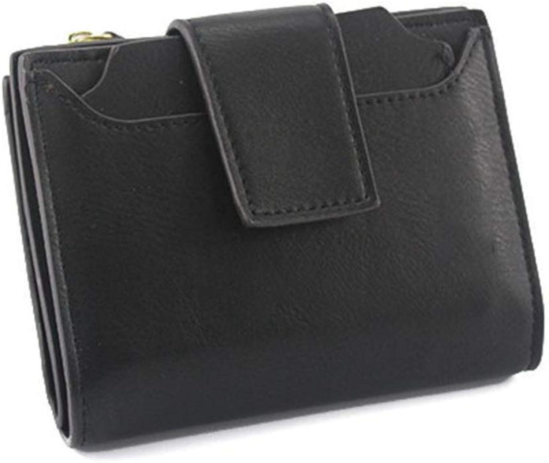 Girls Purse Women's Wallet Lady's Short Zipper Buckle Large Capacity Scrub Women's Small Wallet Clip (color   C)