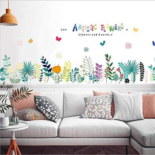 Yceot muurstickers, natuur, dode plant, bloemen, wandsticker, wanddecoratie, modern, decoratie voor huis