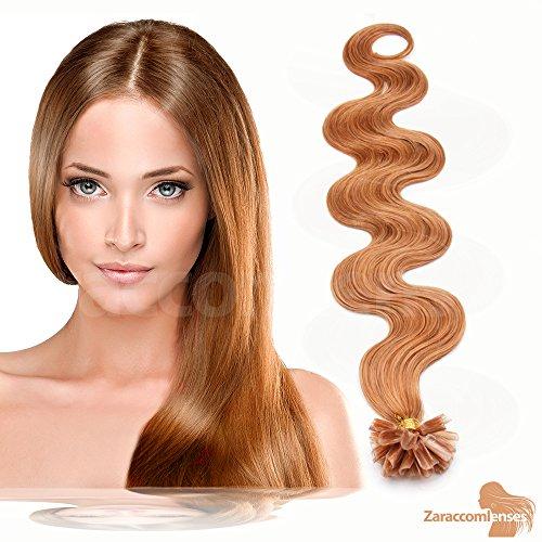 Kératine Hair Extensions de U Tip en 17 Blond cendré foncé – 100% Cheveux Naturels Remy Mèches de 60 cm de 1G Poids des cheveux