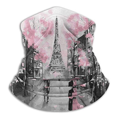 Parigi Torre Eiffel Scaldacollo Scaldacollo Scaldacollo Antivento San Valentino Scaldacollo Viso UV Passamontagna Sciarpa per Ourdoor Sport Nero
