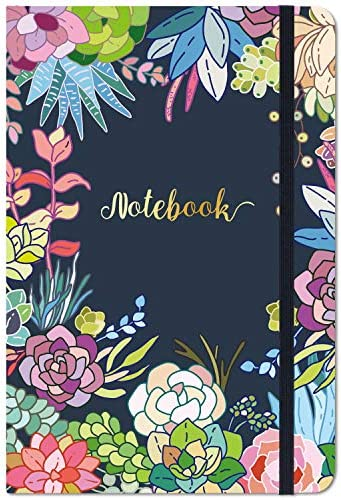 Ruled Notebook Journal Lined Journal 8 4 X 5 8 Hardcover Page mark Thick Back Pocket Lay Flat product image