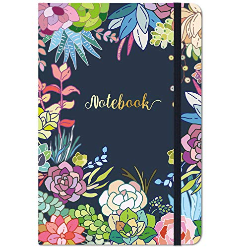 """Ruled Notebook / Journal - Lined Journal, 8.4"""" X 5.8"""", Hardcover, Page mark, Thick Back Pocket, Lay Flat 360° to Write Easy with Premium Paper, Ruled Journal, Perfect for School, Office & Home"""