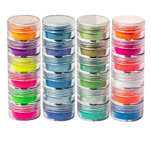 Qinshi nagelpulver buntes Glitzern superfeines leuchtendes perlenhighlightpulver nagellack maniküre Nail Art chrompigment DIY Dekoration