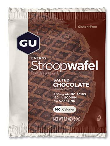 Gu Energy Stroopwafel - Nederlandse stijl siroop wafel (gezouten chocolade) - Doos van 16