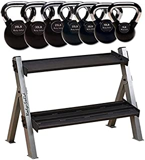 Body-Solid 5-35 lb. Chrome Kettlebell and Rack Package