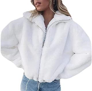 Women's Long Sleeve Fleece Jacket Casual Lapel Shearling Shaggy Coat