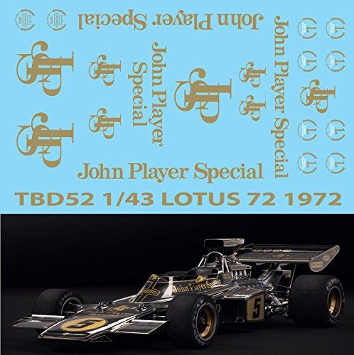 1/43 Lotus 72 John Player Special Decals TB Decal TBD52