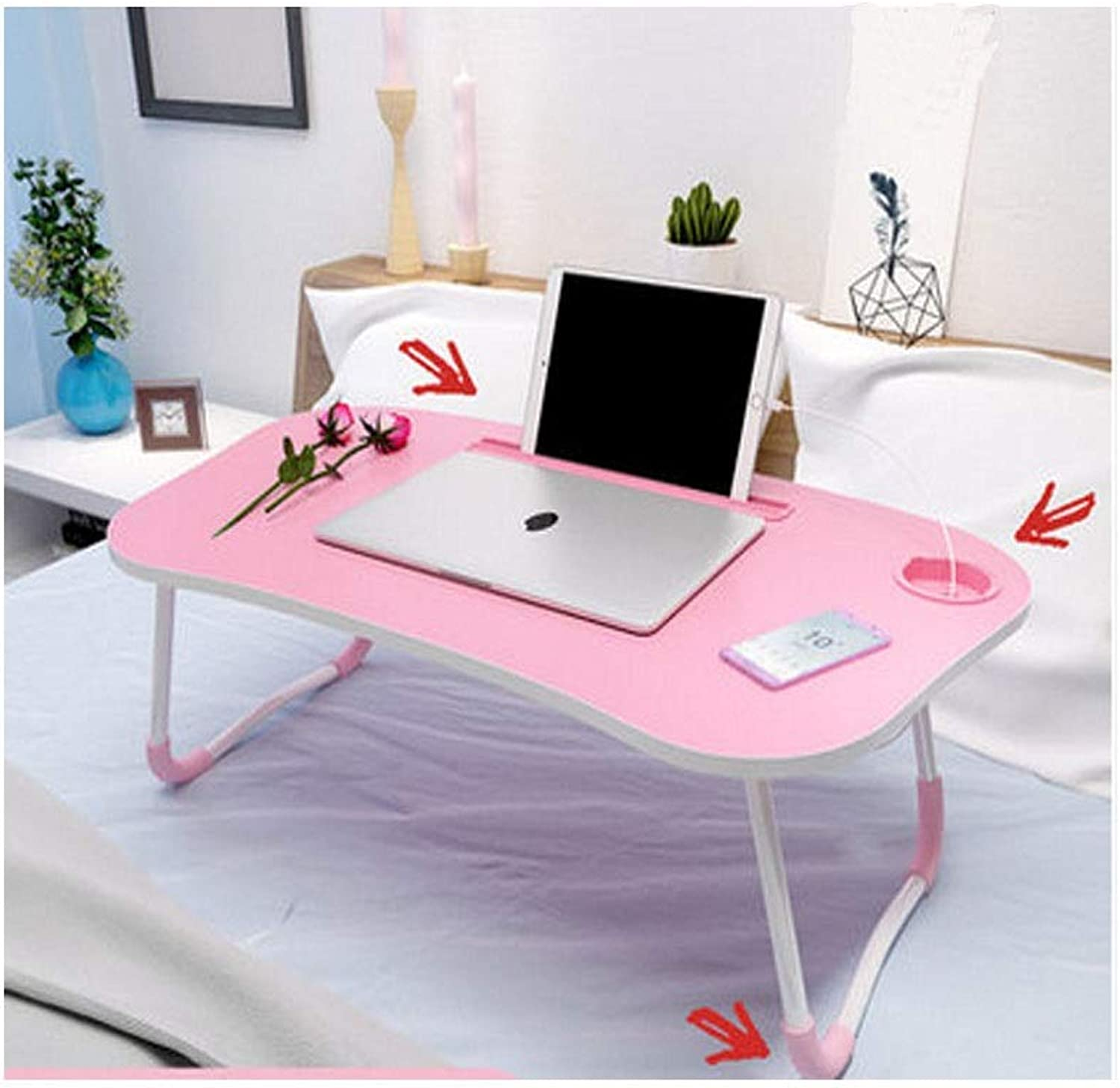 Table and Chairs, Folding Tables and Chairs, Large Table, Simple Household Folding Table, Simple Shape, Comfortable to Use (color   Pink, Size   70  40  28cm)