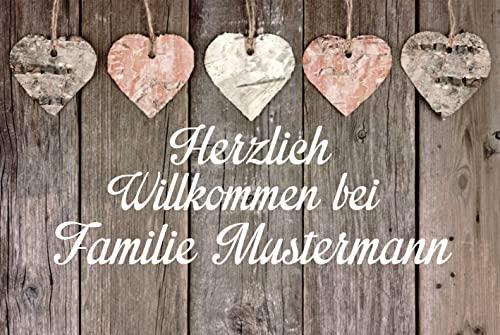 Creativ Deluxe Fussmatte m. Wunschnamen - Fussmatte Bedruckt Türmatte Innenmatte Schmutzmatte...