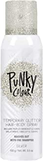 Punky Temporary Hair and Body Glitter Color Spray, Travel Spray, Lightweight, Adds Sparkly Shimmery Glow, Perfect to use O...