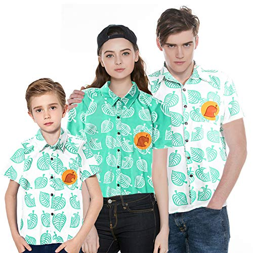 Camiseta de manga corta unisex con botones para disfraz de Tom para adultos, niños, hombres, mujeres, niños y niñas