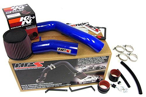 Non-Carb Compliant HPS 37-275BL Blue Long Ram Cold Air Intake Kit Cool, CAI