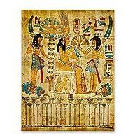 絵画アート居間のレトロなエジプトの風景の壁の写真宗教的な絵画キャンバスアートポスターとプリント家の装飾フレームなし-40X50Cmフレームなし、フレームなし4
