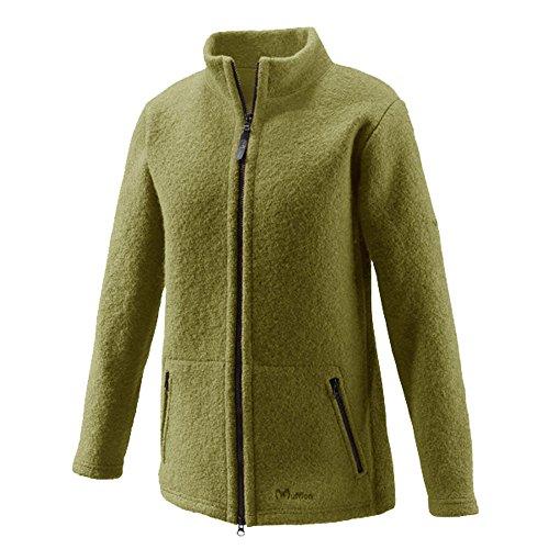 Mufflon Damen Walk-Jacke Mel aus Reiner Schurwolle, Kiwi, L,44