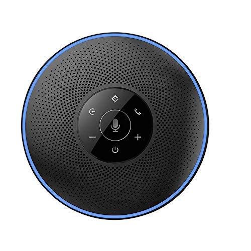 eMeet Bluetooth Freisprecheinrichtung - USB Konferenzlautsprecher für 5-8 Personen Business Konferenz 4 AI-Mikrofon 360º Spracherkennung, 8M Weitfeld, für Zoom, Skype, VoIP-Kommunikation PC usw.