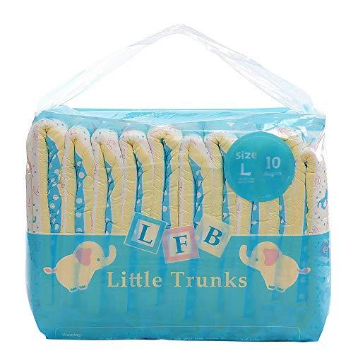 LittleForBig Gedruckten Erwachsenen Slip Windeln 10 Stück-Kleine Elefanten L