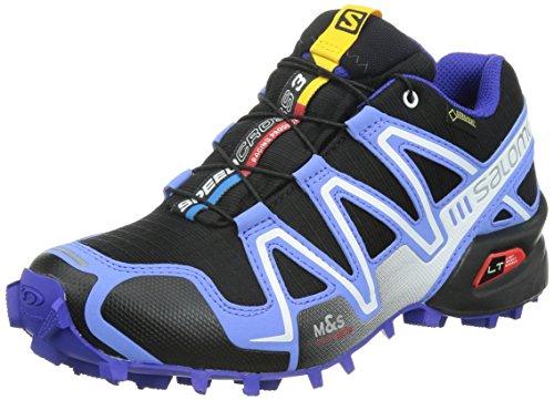 Salomon Speedcross 3 - Scarpe Running Donna, Multicolore (Black/Petunia Blue/Spectrum Blue), 36 2/3