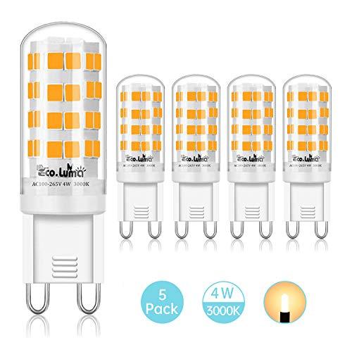G9 G4 LED Modern Leuchtmittel G9, warmweiß, 4 W, 5 Stück.