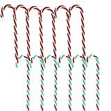 SRTYZ 24PCS Bastones de Caramelos Arbol de Navidad Colgante de Pared Adorno Decoración Hogar Fiesta RegaloTorcidos Adornos de Bastones de Dulce Rojo Verde Blanco para Adornos de Fiesta de Navidad