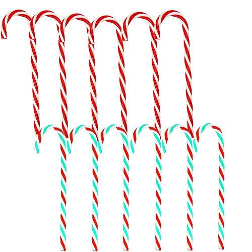 SRTYZ 24PCS Bastones de Caramelos Arbol de Navidad Colgante de Pared Adorno Decoración Hogar Fiesta RegaloTorcidos Adornos de Bastones de Dulce Rojo Verde Blanco para Adornos de Fiesta de Navidad 🔥