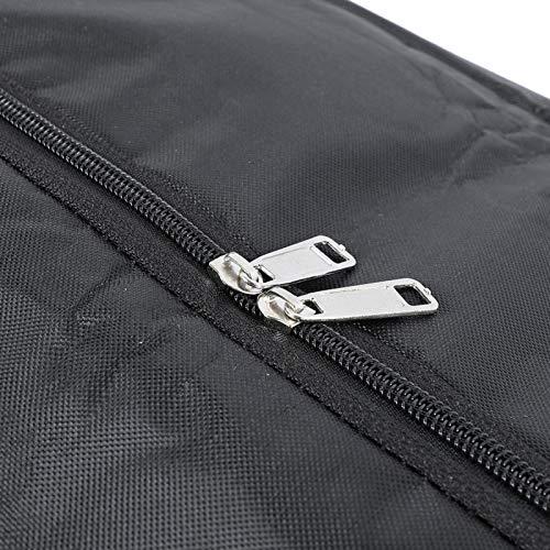 Zwarte handtas met lange levensduur en snelsluiting met ritssluiting, voor buiten