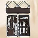 LONGLING Set de manicura Cuidado Personal - Kit de cortaúñas Manicura 12 en 1 Set de pedicura Profesional Kit de Aseo de Regalo(B)
