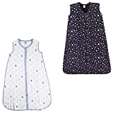 Wearable Sleeping Bag Muslin & Jersey Cotton, 2-Pack