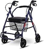 Z-SEAT Andador con Ruedas, Andador con Ruedas de Postura Vertical, ayudas de Movilidad Ligeras, Andador con Andador de Aluminio Plegable con Asiento cómodo