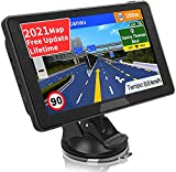 SAT NAV GPS Navigation System, Jimwey 7 inch 2021 Map Satellite Navigator Device for Car Truck Lorry, UK/EU Maps Lifetime Free Update, with Post Code POI Search Speed Camera Alerts