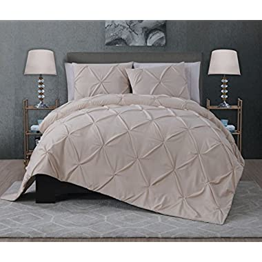 Avondale Manor Ella 3-piece Quilt Set, King, Taupe