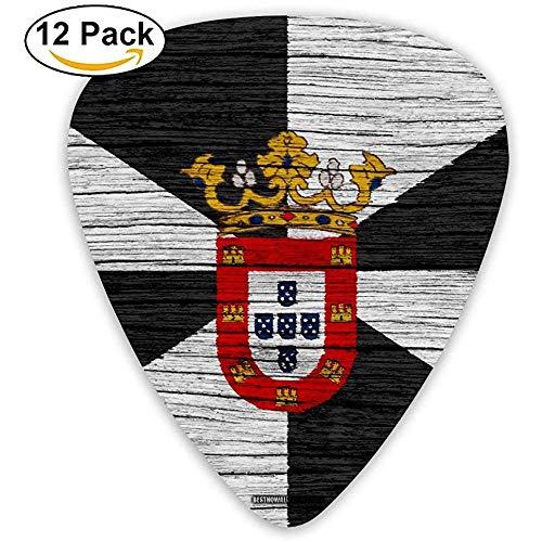 Bandera De Ceuta Textura De Madera Guitarra Española Pick 12pack