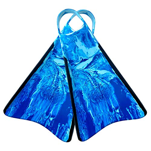 Kpaloa - Aletas para Bodyboard, Azul, Blanco, Negro - XS