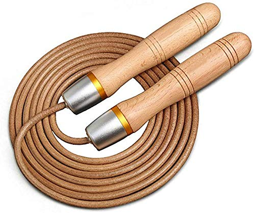 New Fashion Skipping Fast Speed Gym Training Sports Exercise 3.0 Meters Jump Rope With Wood Handle And Leather Rope