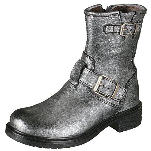 Momino 1411M Stiefel Boots Stiefeletten Mädchen, Silber (50664 Savana Argento), 32