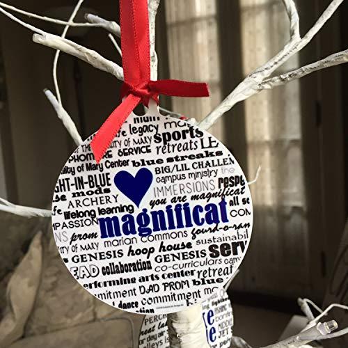 Nobrands Magnificat Río rocoso, adorno de ohio – aluminio redondo de 8,9 cm, de dos lados, se puede personalizar la decoración del árbol de Navidad, Navidad, Navidad, regalo de recuerdo