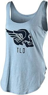 Troy Lee Designs Women's Agent Skully Tank Top (Medium, Stone Wash Denim)