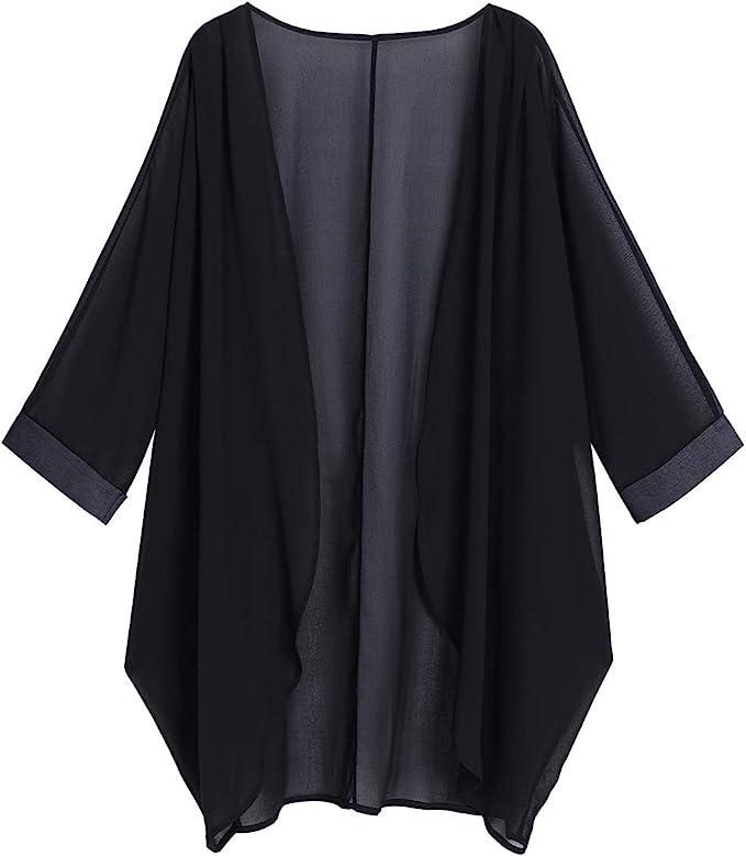 Shawls & Wraps   Fur Stole, Lace, Fringe olrain Womens Floral Print Sheer Chiffon Loose Kimono Cardigan Capes  AT vintagedancer.com