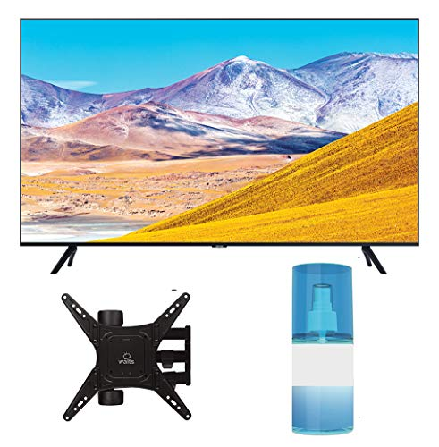 "Samsung UN55TU8000 55"" 8 Series Ultra High Definition Smart 4K Crystal TV with a Walts TV Medium Full Motion Mount for 32""-65"" Compatible TV's and Walts HDTV Screen Cleaner Kit (2020)"