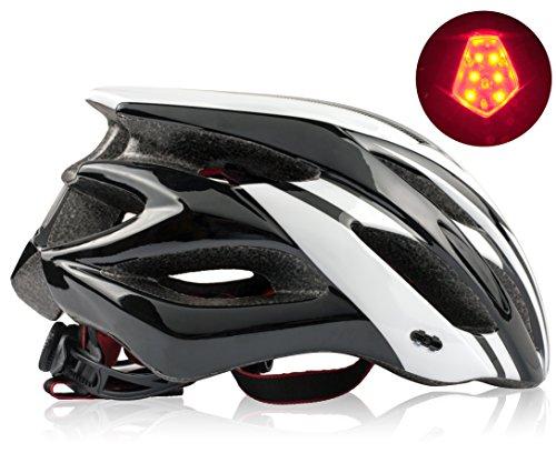 Shinmax Fahrradhelm,mit CE Zertifikat Fahrradhelm Abnehmbarem Visier für Männer&Frauen,Fahrradhelm für BMX,Scooter Skate,Mountain Fahrradhelm für Erwachsenen Herren Damen mit LED Rücklicht 56-62CM