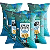 Barnana Organic Plantain Chips - Sea Salt & Vinegar - 5 Ounce, 5 Pack Plantains - Salty, Crunchy, Thick Sliced Snack - Best Chip for Your Everyday life - Cooked in Premium Coconut Oil