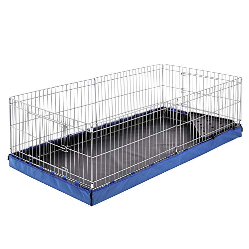 AmazonBasics Indoor-Outdoor Small Pet Habitat Cage with Canvas Bottom, Blue