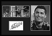 10種類! クリスティアーノ・ロナウド/Cristiano Ronaldo /サインプリント&証明書付きフレーム/BW/モノクロ/ディスプレイ/3W (09) [並行輸入品]