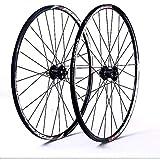 N&I Mountain Bike wheelset 26/27.5in Double-Walled Bicycle Wheel Rear Wheel Front Wheel Rim V-Brake disc Brake Fast Release hybrid 24 Hole 7/8/9/10/11 Speed 27