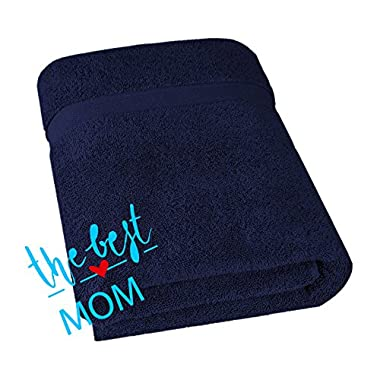 Hotel & Spa Quality, Absorbent and Soft Decorative Kitchen and Bathroom Turkish Towel, Fast Drying and Luxury 100% Cotton Jumbo Size Large 35x70 inches 650 GSM Bath Sheet, Ocean Blue