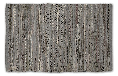 DII Contemporary Reversible Floor Rug Bathroom, Living Room, Kitchen, or Laundry Room (20x31.5') - Gray (Color may vary)